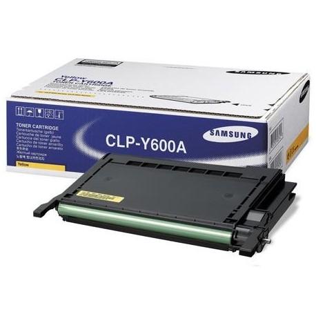 Samsung CLP-Y600A yellow toner cartridge (CLP-Y600A)