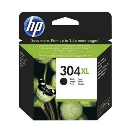 HP 304XL didesnės talpos juoda rašalo kasetė (N9K08AE/Nr. 304XL)