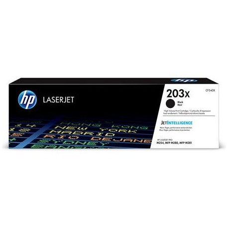 HP 203X higher capacity black toner cartridge (CF540X)