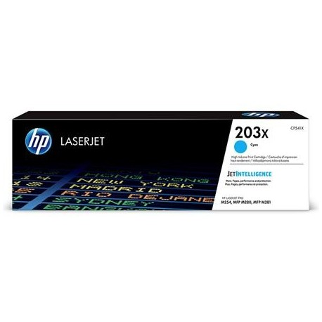 HP 203X higher capacity cyan toner cartridge (CF541X)