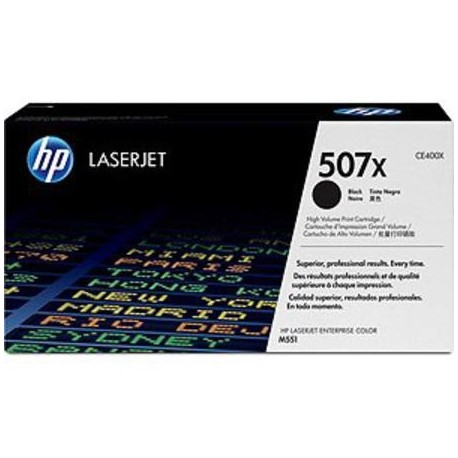 HP 507X higher capacity black toner cartridge (CE400X)