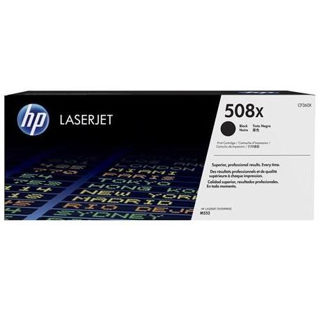 HP 508X higher capacity black toner cartridge (CF360X)