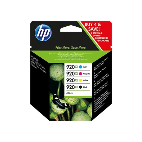 HP 920XL rašalo kasečių komplektas (C2N92AE Nr. 920XL)