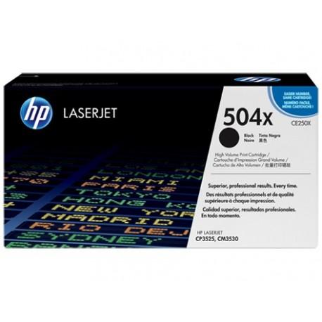 HP 504X higher capacity black toner cartridge (CE250X)
