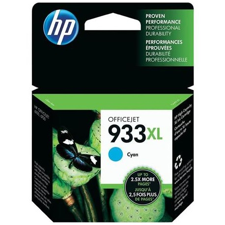 HP 933XL higher capacity cyan ink cartridge (CN054AE/Nr.933XL)