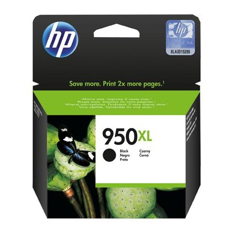 HP 950XL didesnės talpos juoda rašalo kasetė (CN045AE/Nr.950XL)