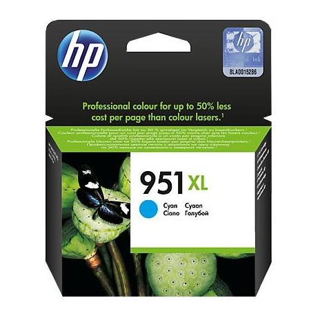 HP 951XL didesnės talpos žydra rašalo kasetė (CN046AE/Nr.951XL)