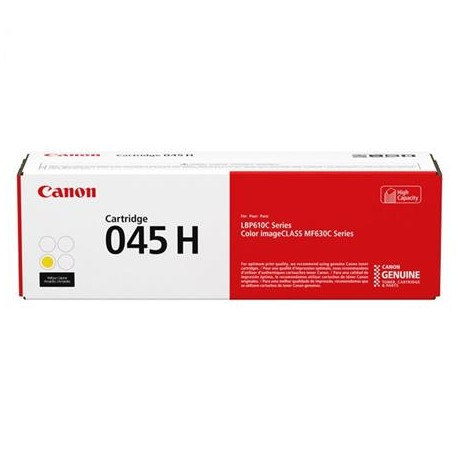 Canon Cartridge 045H higher capacity yellow toner cartridge