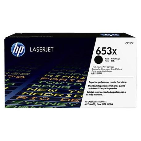 HP 653X higher capacity black toner cartridge (CF320X)