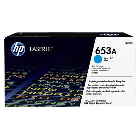HP 653A cyan toner cartridge (CF321A)