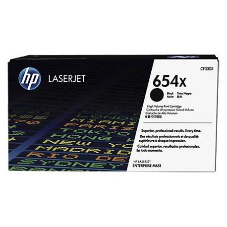 HP 654X didesnės talpos juoda tonerio kasetė (CF330X)