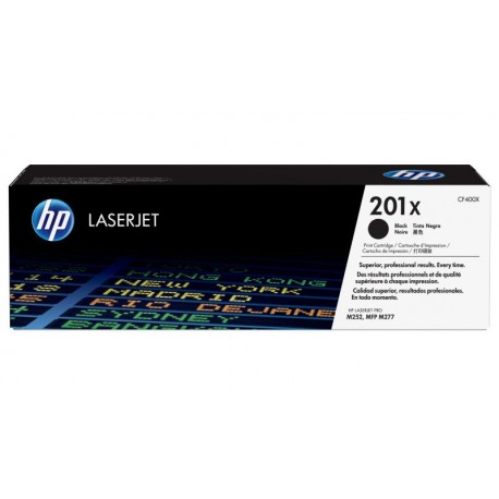 HP 201X higher capacity black toner cartridge (CF400X)