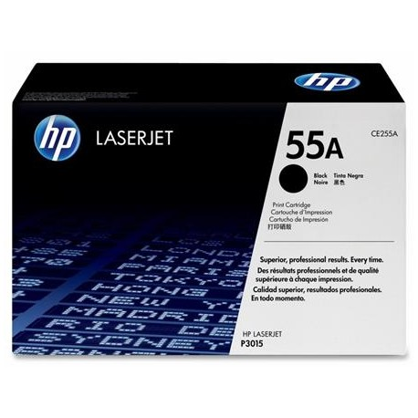 HP 55A black toner cartridge (CE255A)