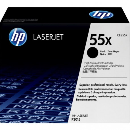 HP 55X higher capacity black toner cartridge (CE255X)