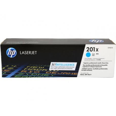 HP 201X higher capacity cyan toner cartridge (CF401X)