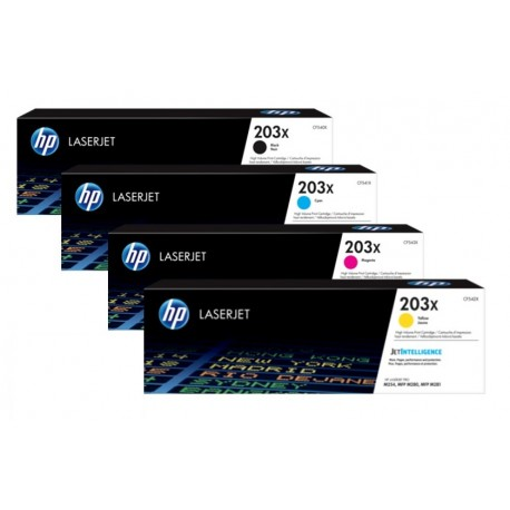 HP 203X higher capacity toner kit (CF540X, CF541X, CF542X