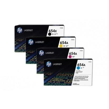HP 654 toner kit (CF330X, CF331A, CF332A, CF333A)
