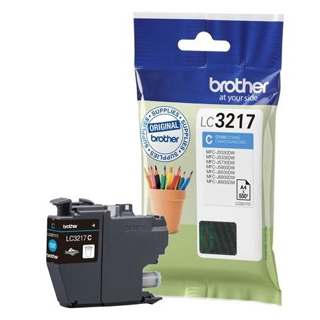 Brother LC3217C cyan ink cartridge (LC3217C)