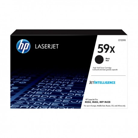 HP 59X higher capacity black toner cartridge, without chip