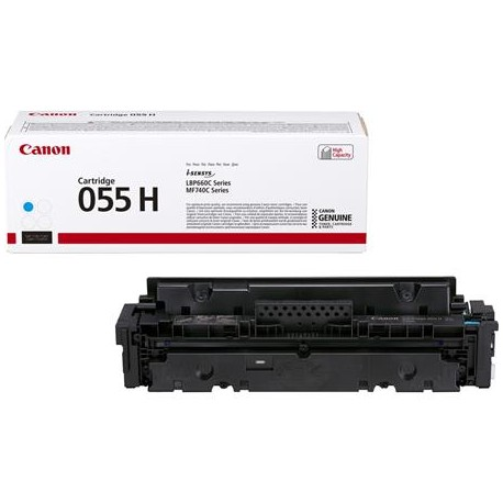 Canon Cartridge 055H higher capacity cyan toner cartridge