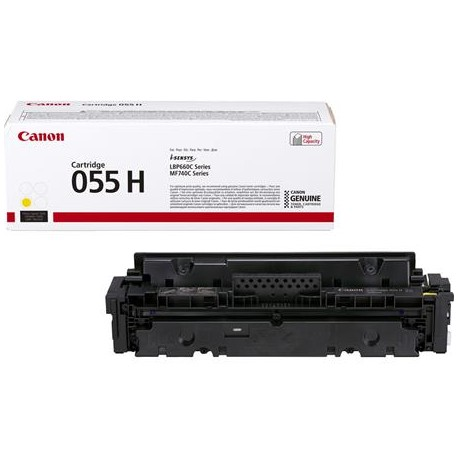 Canon Cartridge 055H didesnės talpos geltona tonerio kasetė