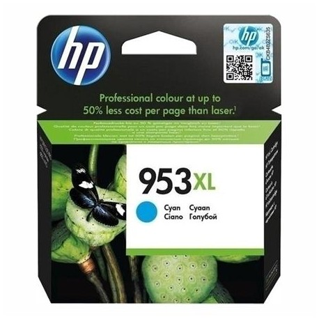 HP 953XL higher capacity cyan ink cartridge (F6U16AE)