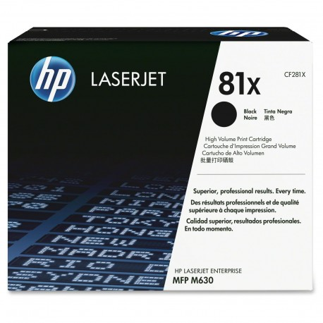 HP 81X higher capacity black toner cartridge (CF281X)