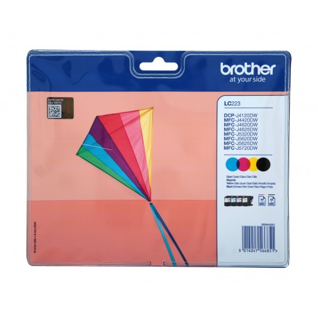 Brother LC223 ink cartridge kit (LC223)