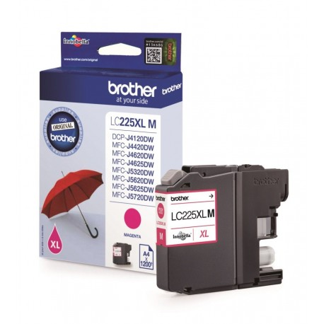 Brother LC225XLM higher capacity magenta ink cartridge