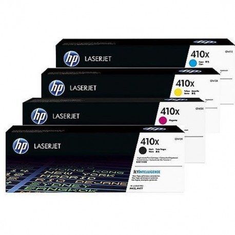 HP 410X higher capacity toner kit (CF410X, CF411X, CF412X
