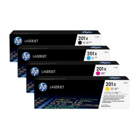 HP 201X didesnės talpos tonerių spalvų komplektas