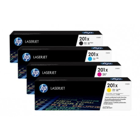 HP 201X higher capacity toner kit (CF400X, CF401X, CF402X