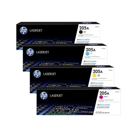 HP 205A toner kit (CF530A, CF531A, CF532A, CF533A)