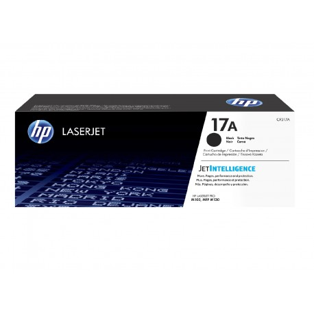 HP 17A black toner cartridge, with chip (CF217A)