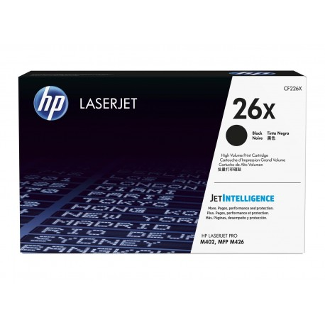 HP 26X higher capacity toner cartridge (CF226X)