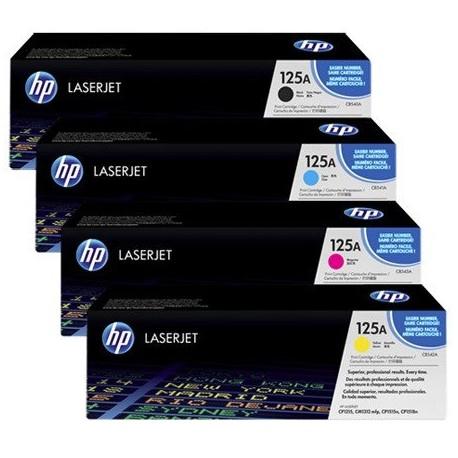 HP 125A toner kit (CB540, CB541A, CB542A, CB543A)