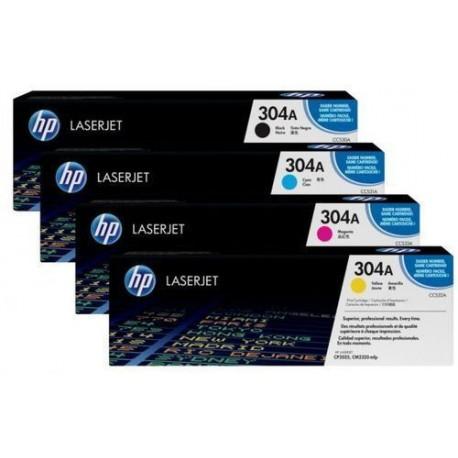 HP 304A toner kit (CC530A, CC531A, CC532A, CC533A)
