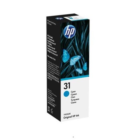 HP 31 cyan ink bottle (1VU26AE)