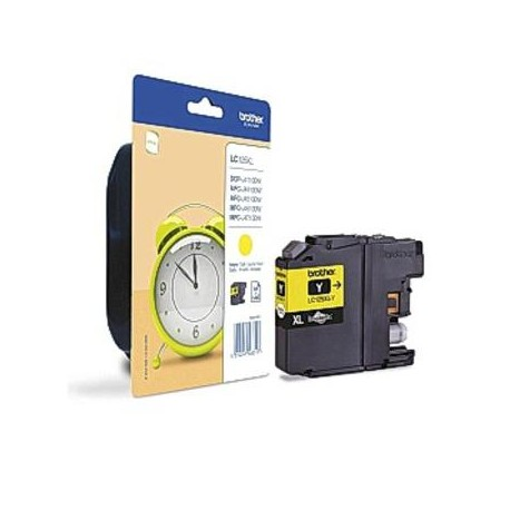 Brother LC125XLY higher capacity yellow ink cartridge (LC125XL)