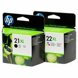 HP 21XL / HP 22XL didesnės talpos rašalo kasečių komplektas