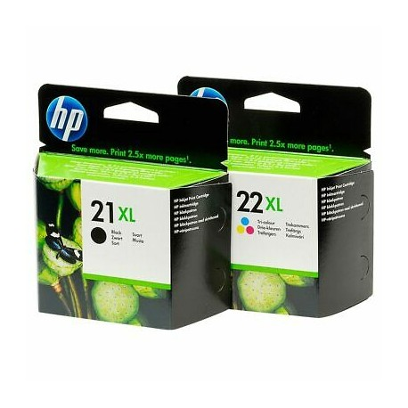 HP 21XL / HP 22XL higher capacity ink cartridge set