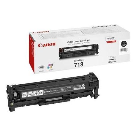 Canon 718 juoda tonerio kasetė (Cartridge 718Bk)