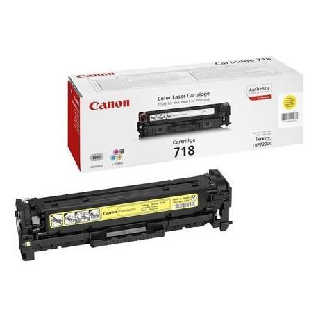 Canon 718 geltona tonerio kasetė (Cartridge 718Y)