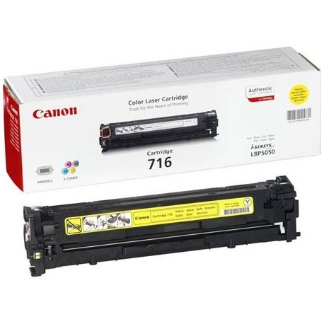 Canon 716 geltona tonerio kasetė (Cartridge 716Y)