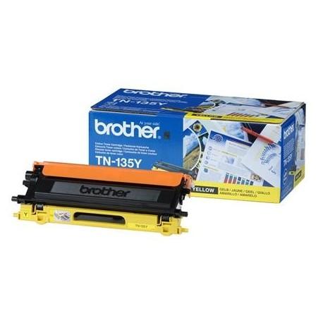 Brother TN-135Y didesnės talpos geltona tonerio kasetė (TN135Y)