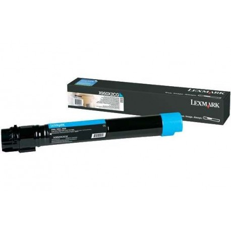 Lexmark X950X2CG cyan toner cartridge (X950X2CG)
