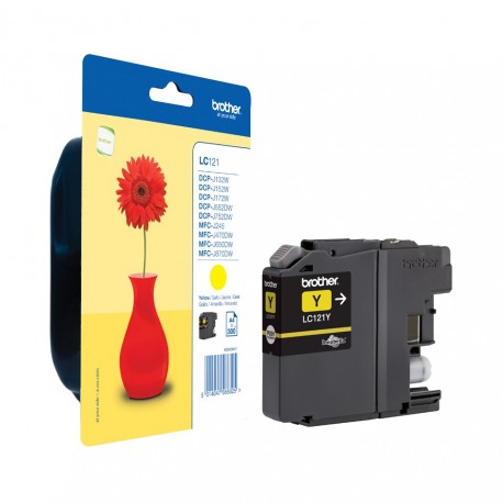 Brother LC121Y yellow ink cartridge (LC121Y)