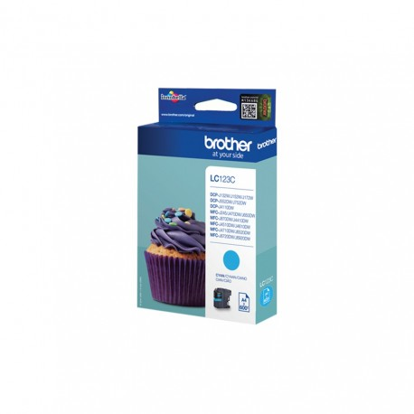 Brother LC123C cyan ink cartridge (LC123C)
