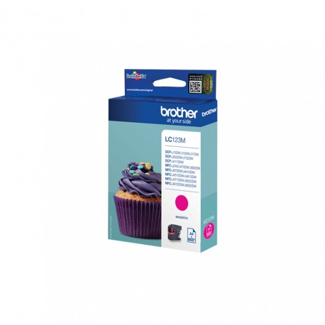 Brother LC123M magenta ink cartridge (LC123M)
