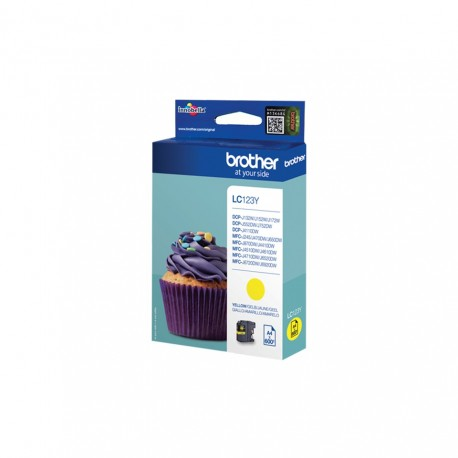 Brother LC123Y yellow ink cartridge (LC123Y)